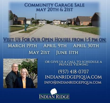 Indian Ridge Open Houses and Community Sale