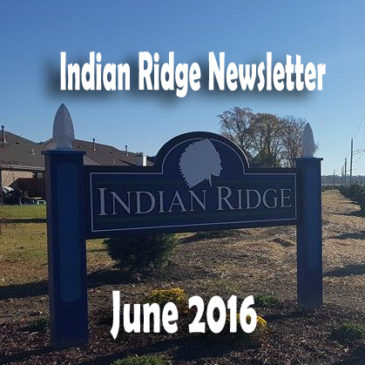 Indian Ridge Newsletter