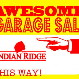 Get Ready for the Indian Ridge Garage Sale!