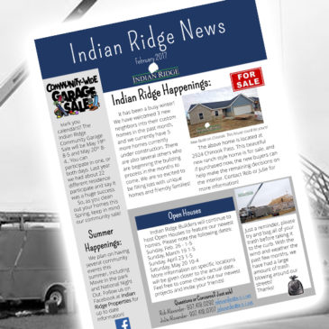 Indian Ridge Properties – February 2017 Newsletter