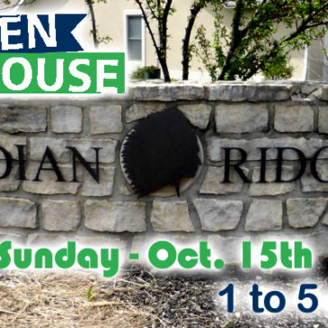 OPEN HOUSE – Sunday, Oct. 15th