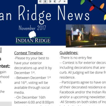 The Indian Ridge Christmas Newsletter for 2017 is HERE!!!